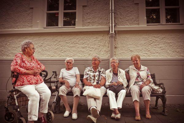 Elderly parents in nursing home